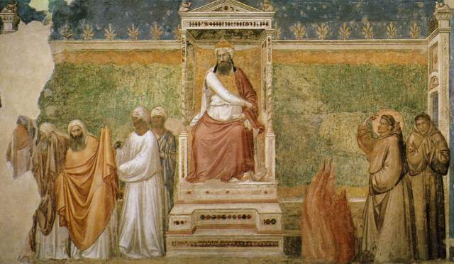 trial-by-fire-of-st-francis-of-assisi-before-the-sultan-of-egypt