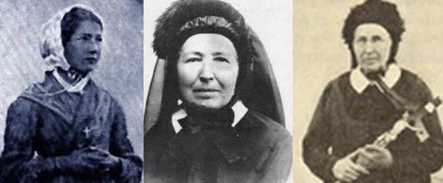 A vidente de La Salette, Melanie Calvat, em três fases da vida