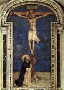 São Domingos diante da Crucifixão. Fra Angelico