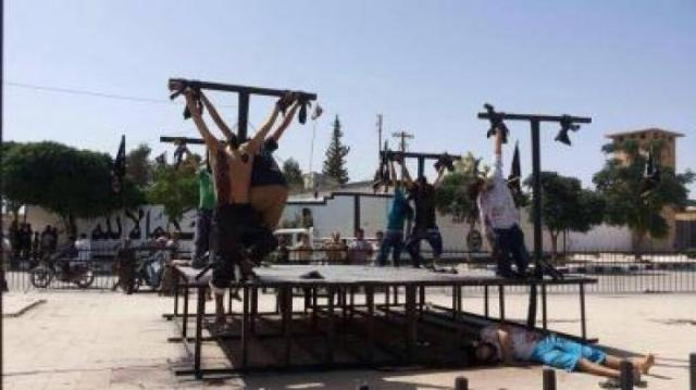 Cristãos crucificados por muçulmanos radicais na Síria