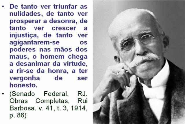A decepção de Rui Barbosa