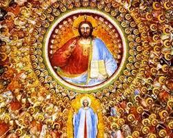 Deus e seus santos.