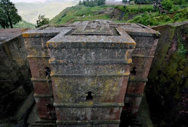 Igreja de pedra em Lalibela, Etiópia.
